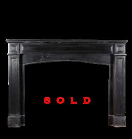 The Antique Fireplace Bank Rustic Schwarzer Belgischer Marmor Kamin