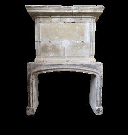 Französisch Des 16. Jahrhunderts Periode Kalkstein Kamin Maske