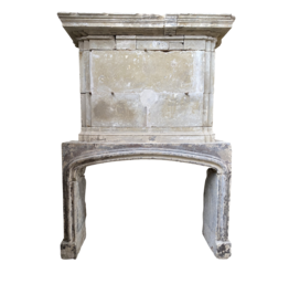 French 16Th Century Period Limestone Fireplace Surround
