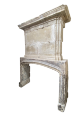 The Antique Fireplace Bank French 16Th Century Period Limestone Antique Fireplace Surround With Upper Mantle