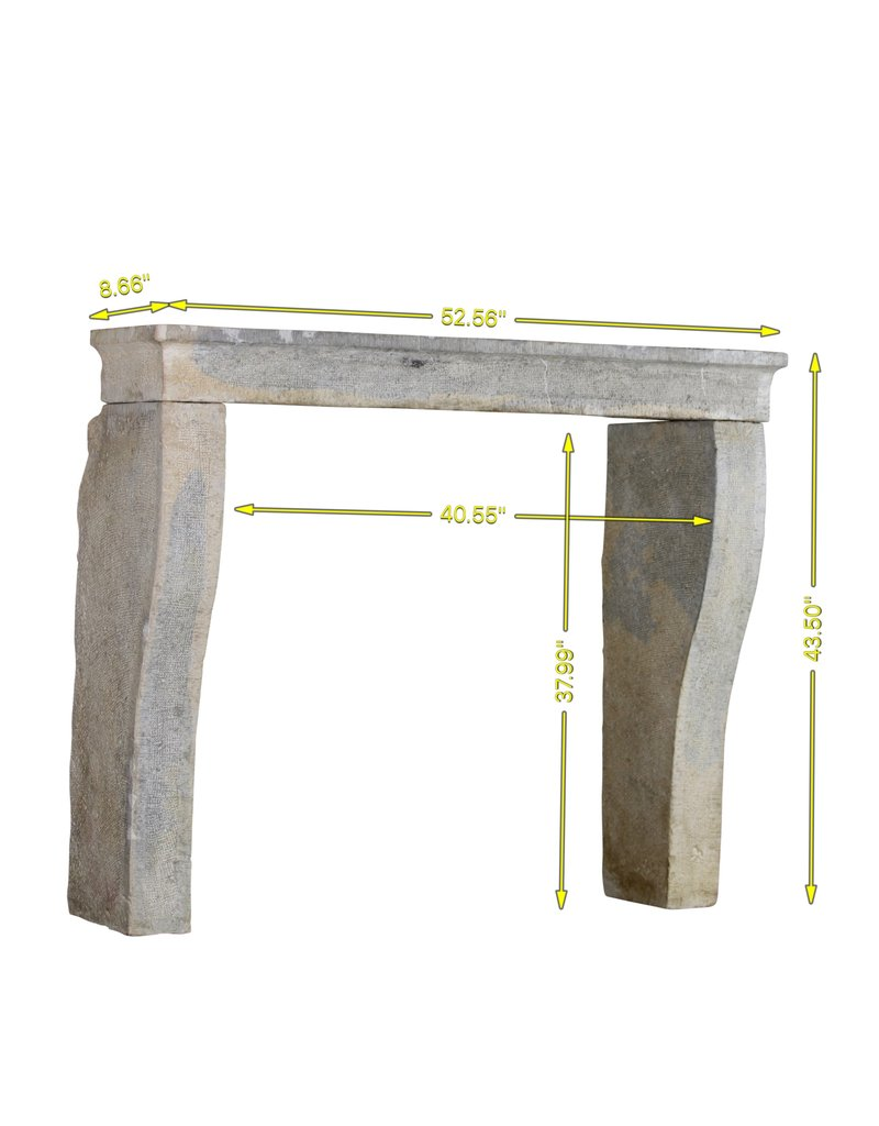 Rustic French Country Style Antique Fireplace Surround