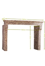 French Country Style Limestone Reclaimed Fireplace Mantle