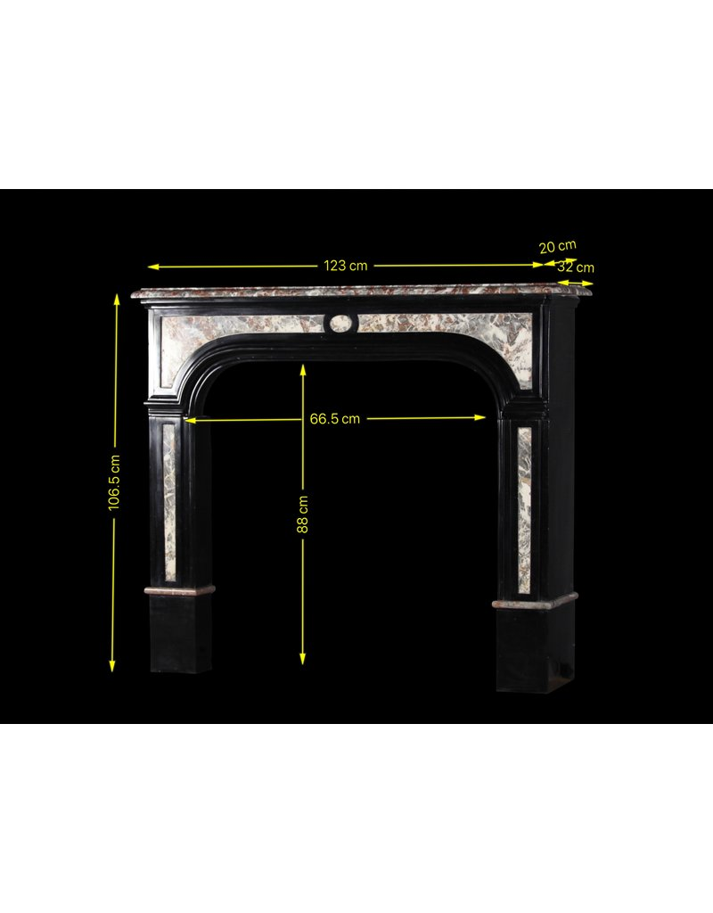 The Antique Fireplace Bank Black Belgian Marble Vintage Fireplace Surround