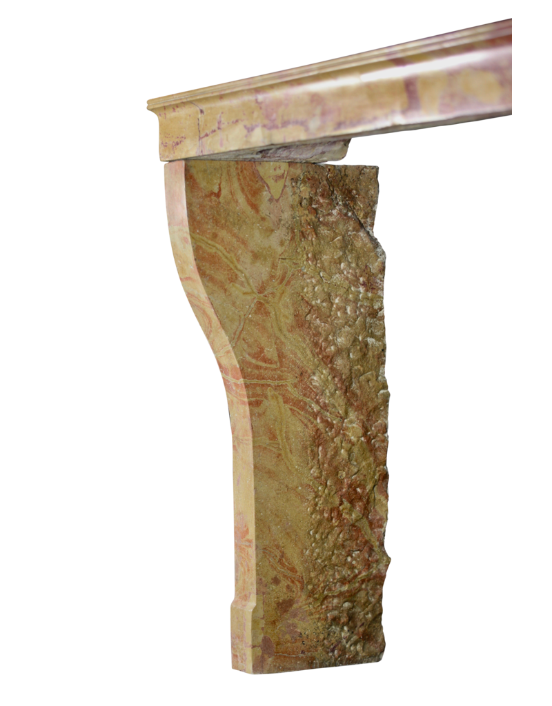 Small French Vintage Fireplace Surround For Eclectic And Modern Interior Concept