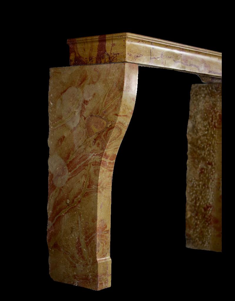Maison Leon Van den Bogaert Antique Fireplaces & Vintage Architectural Elements Pequeño Marco De Chimenea Vintage Francés Para Un Concepto Interior Ecléctico Y Moderno