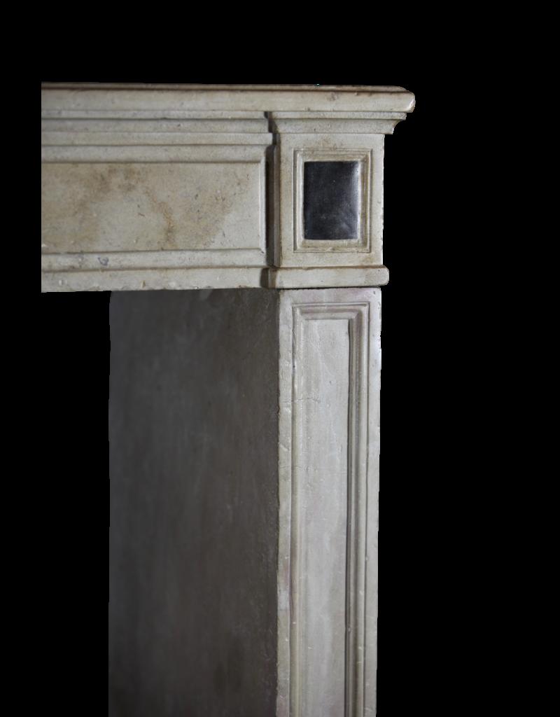 Elegante Chimenea Francés en Piedra Caliza