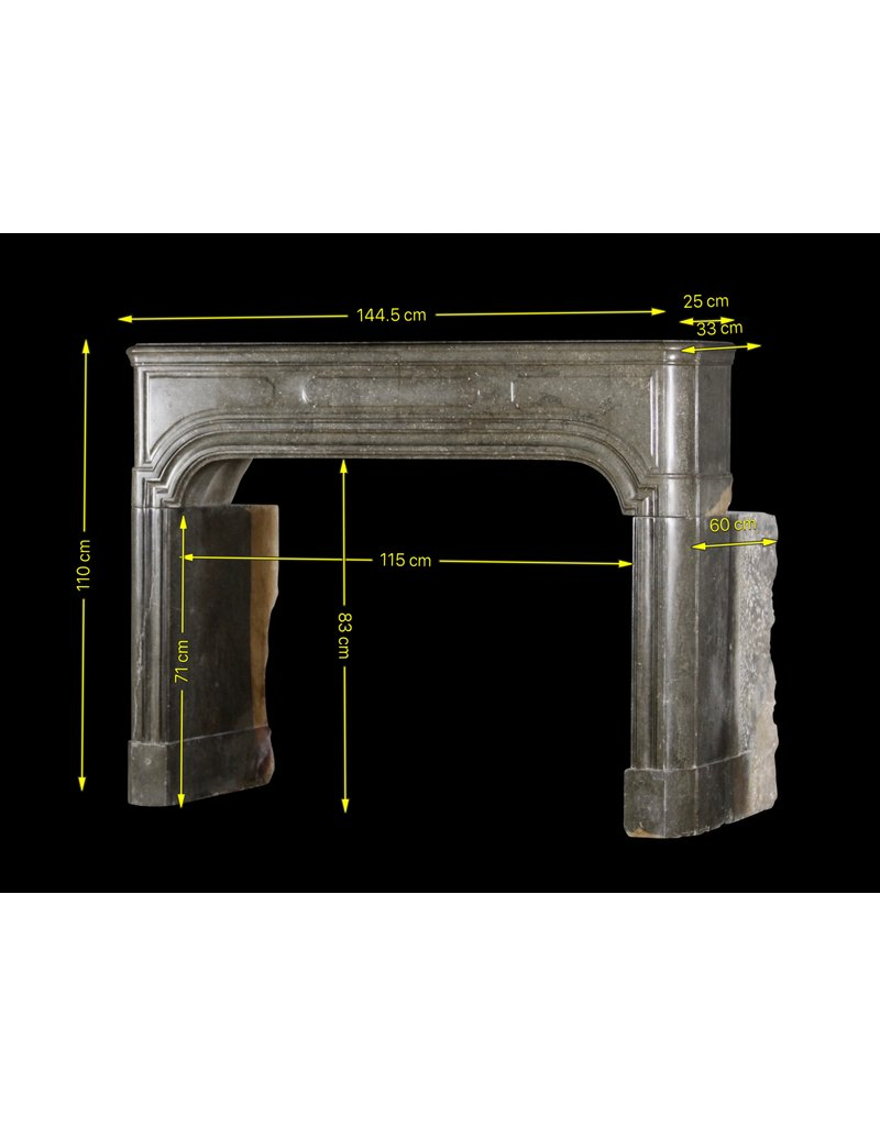 Strong French Antique Stone Fireplace Mantle