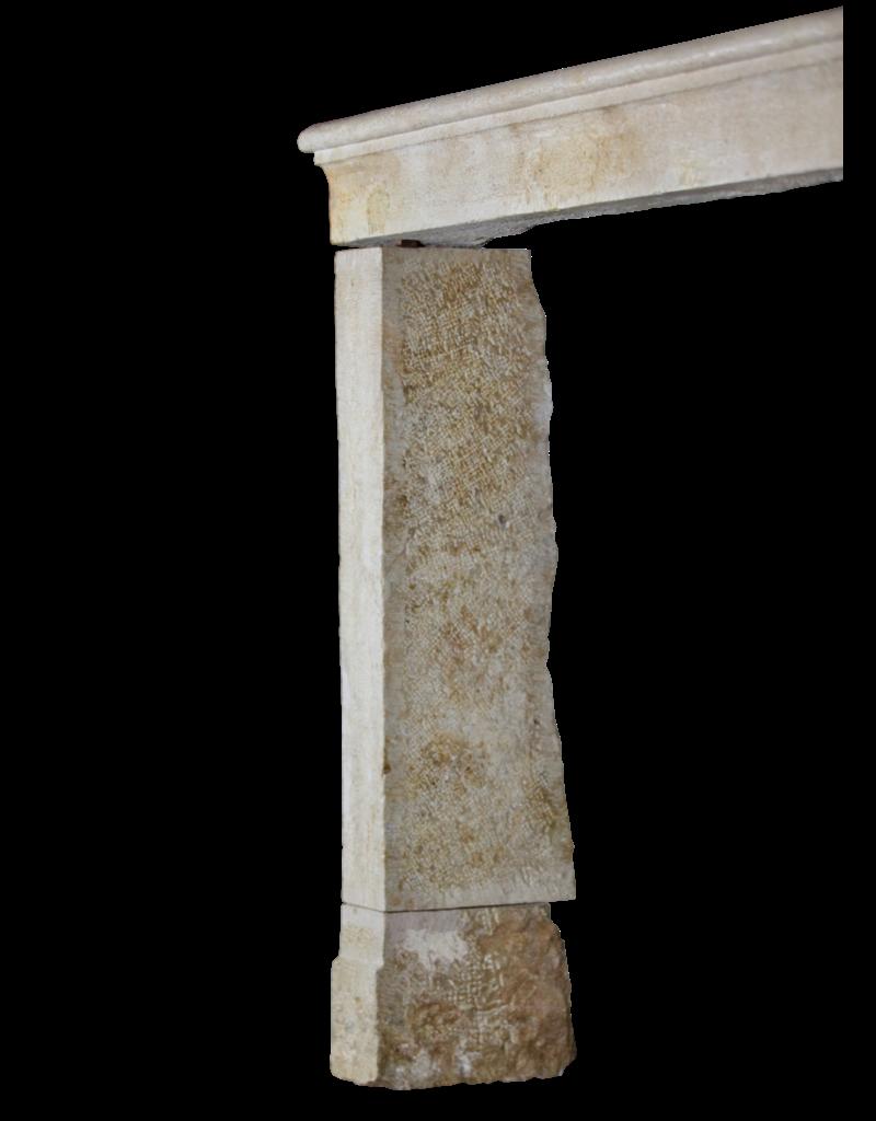 Manto De Chimenea Francés De Estilo Rústico Vintage En Piedra Caliza