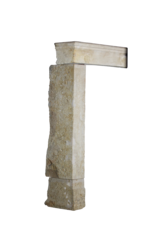 French Country Style Vintage Fireplace Mantle In Limestone