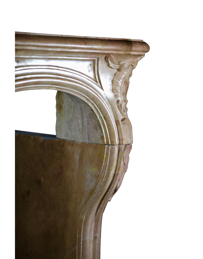 The Antique Fireplace Bank Romantic French Hard Stone Vintage Fireplace Surround