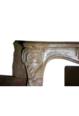 Romantic French Hard Stone Vintage Fireplace Surround
