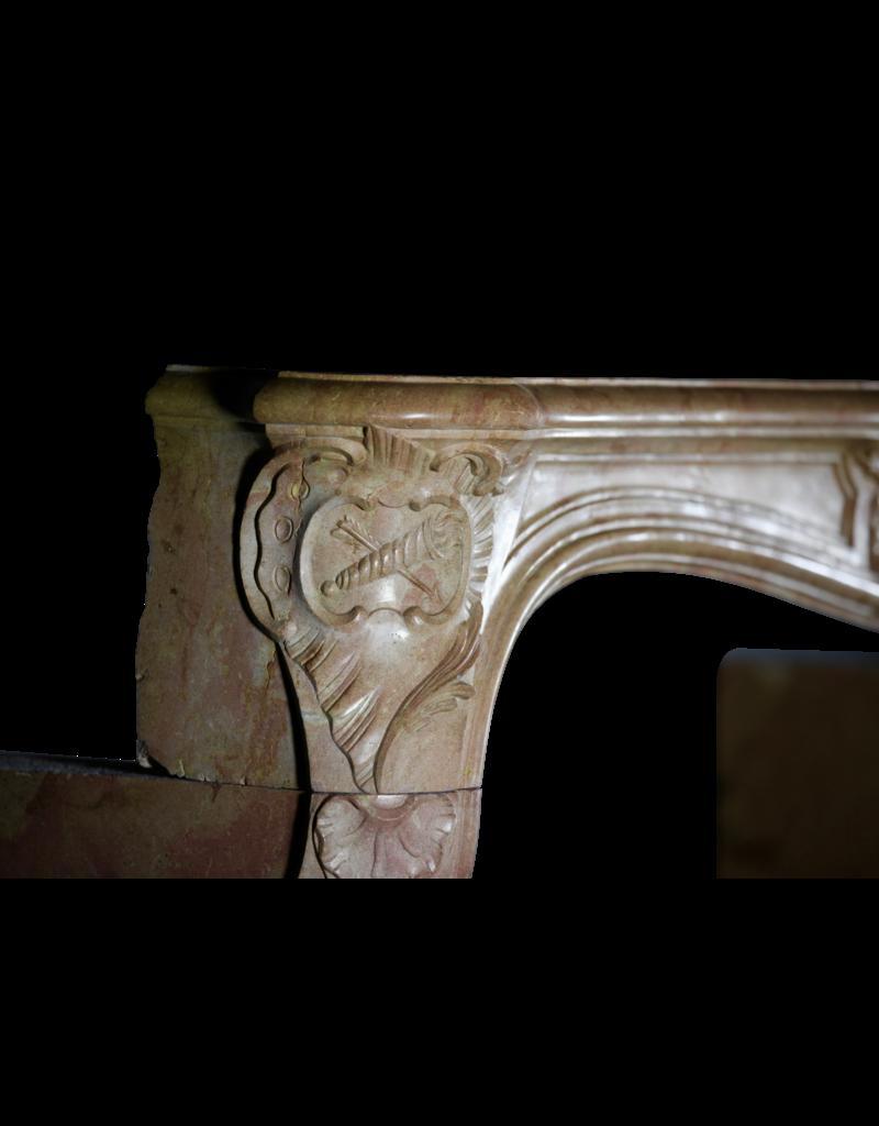 Romántico Marco De Chimenea Vintage De Piedra Dura Francesa