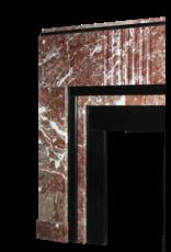 Mármol Negro Belga Y Ardenas Belgas Art Deco Período Chimenea Chimenea