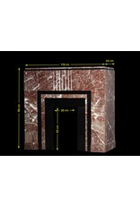 Belgian Black Marble And Belgian Ardennes Art Deco Period Fireplace Surround