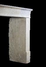 Bicolor Vintage Kalkstein Kamin Einfassung Im Französischen Landhausstil