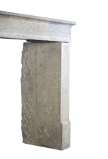 French Country Style Bicolor Vintage Limestone Fireplace Surround