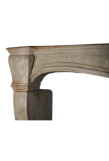 French Chique Country Style Vintage Limestone Fireplace Surround