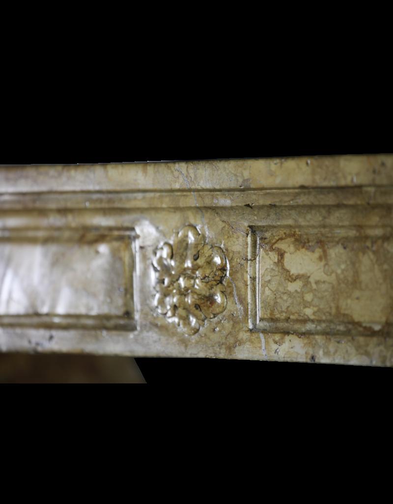 Antiguo Marco De Chimenea De Época Luis XVI En Mármol
