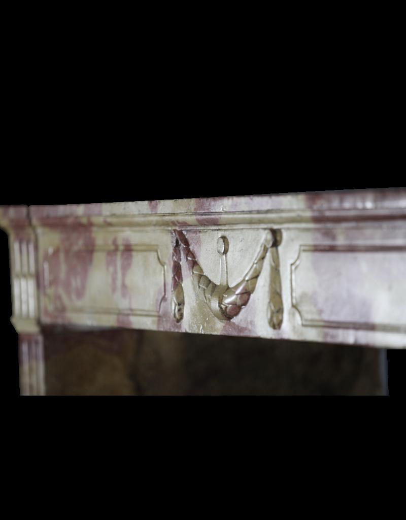 Fuerte Bicolor Louis XVI Período Francés Vintage Chimenea
