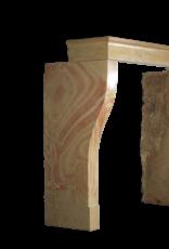 Elegante Alta Bicolor Piedra Dura Chimenea Vintage