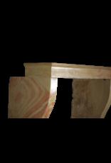 Elegante Höhe Zweifarbige Hartstein Vintage Kamin Maske
