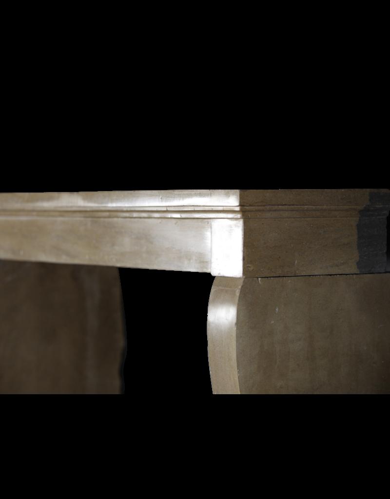 Französische Antike Kamin Maske Aus Hartem Kalkstein