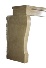 Chimenea De Piedra Caliza Francesa Antigua
