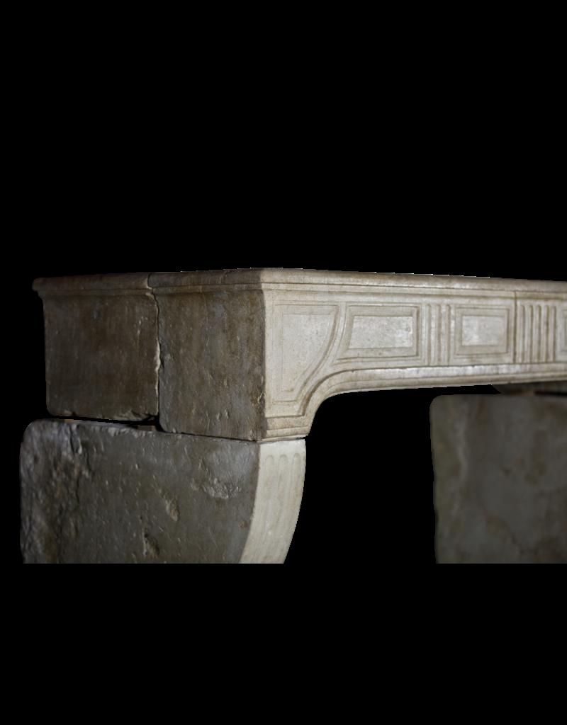 Groß Antik Französisch Landhausstil Kamin Maske In Kalkstein