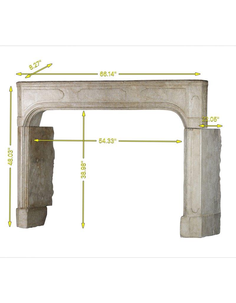 The Antique Fireplace Bank Chimenea De Piedra Caliza Antigua Del Siglo XVIII Francés