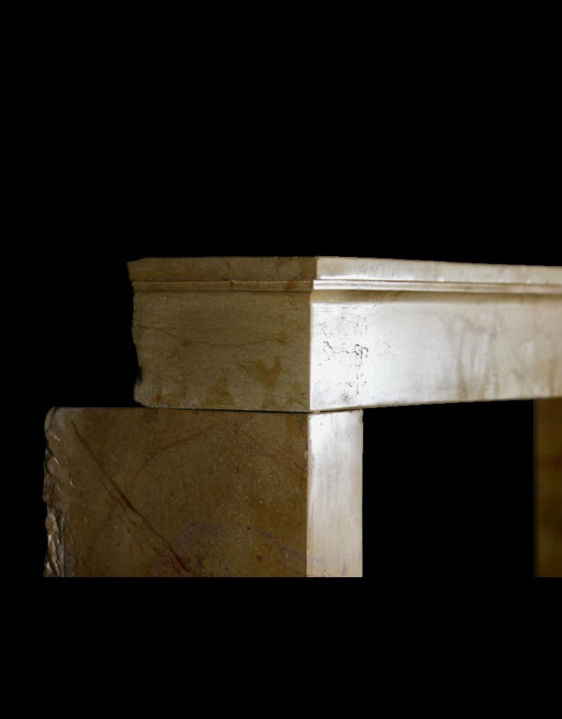 Feine Zweifarbige Antike Kamin Maske