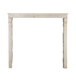 High French Country Style Antique Limestone Fireplace Surround