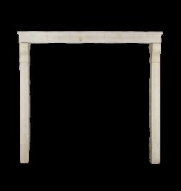 Hohe Antike Kalkstein-Kamin Maske Im Französischen Landhausstil