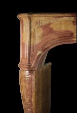 Chimenea Francesa Antigua Del Siglo XVIII En Piedra Bicolor