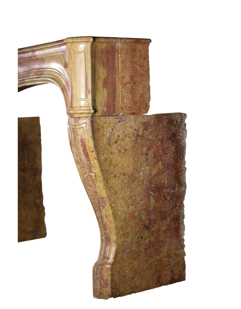 The Antique Fireplace Bank 18Th Century French Antique Fireplace Surround In Bicolor Stone
