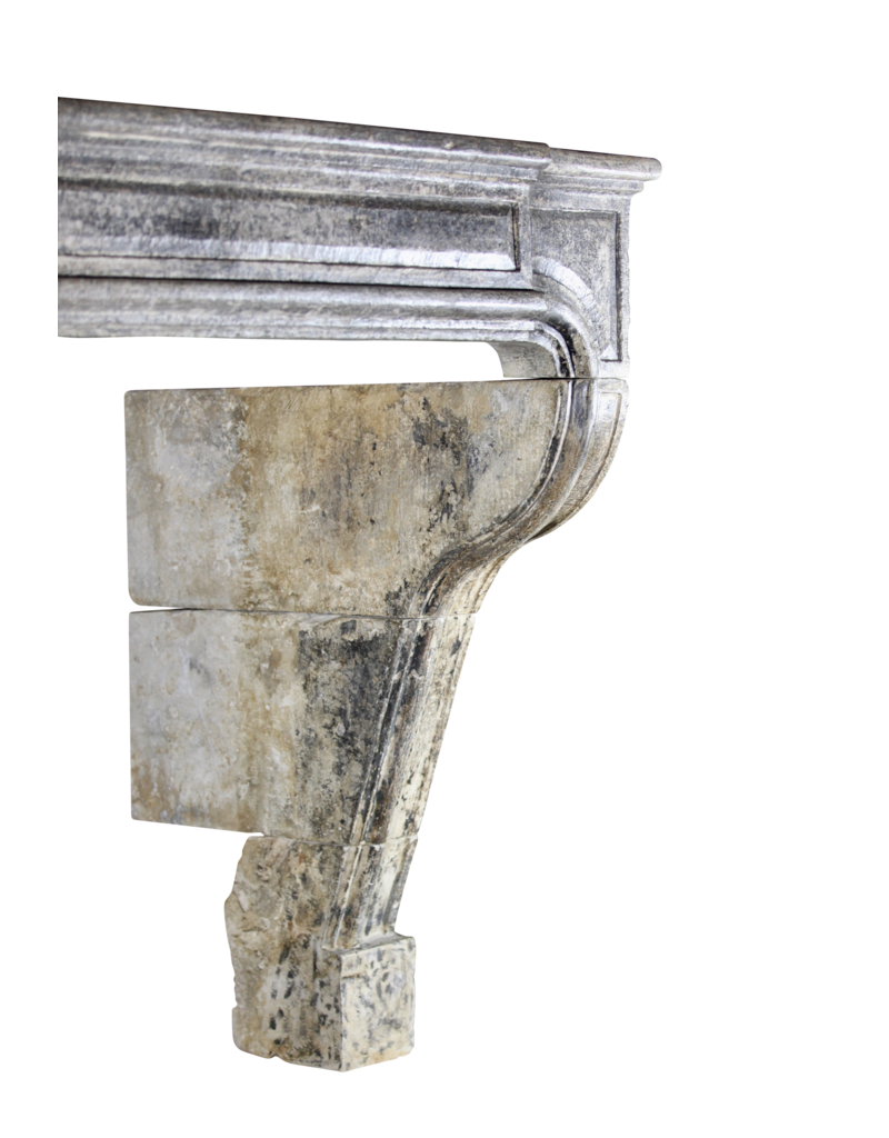 French Timeless Country Style Vintage Fireplace Surround In Limestone