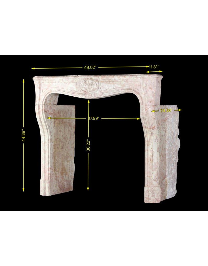 Chimenea Antigua En Piedra Dura Francesa