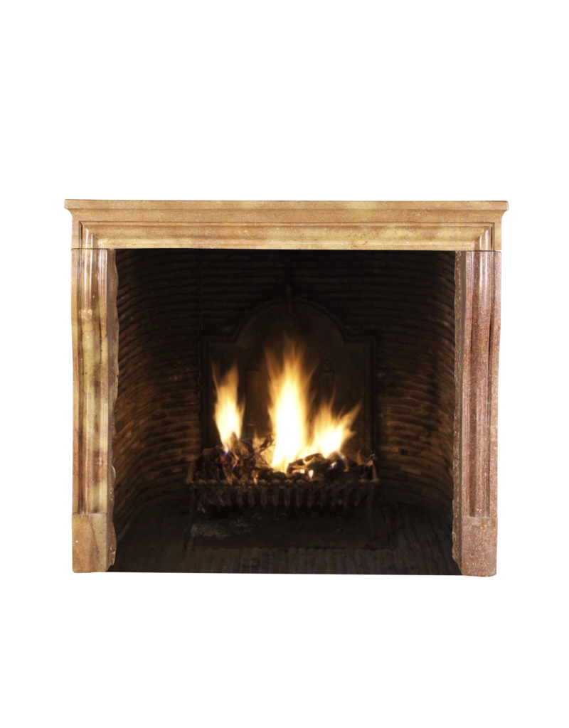 The Antique Fireplace Bank Vintage Fireplace Surround In Bicolor Stone