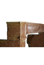 Revestimiento De Chimenea Antiguo Extremadamente Ancho En Piedra Dura Bicolor