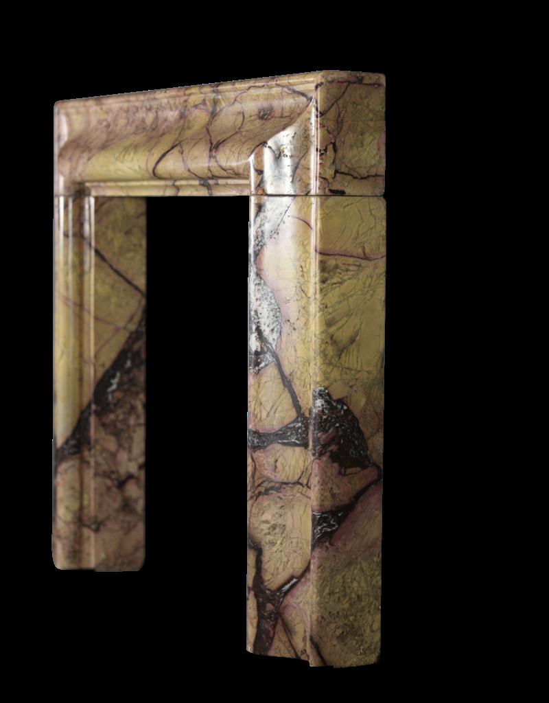 Opulente Bolection Kamin Maske Aus Antikem Marmor