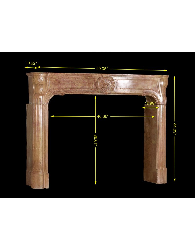 French Vintage Fireplace Surround