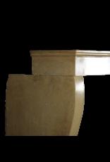 Francés Antiguo Acogedor Chimenea En Piedra De Color Miel