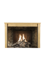 French Antique Cosy Fireplace Surround In Honey Color Stone