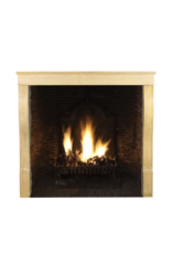 Small French Antique Fireplace Surround In Hard Limestone