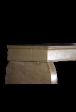 Kleine Französische Antike Kamin Maske Aus Hartem Kalkstein