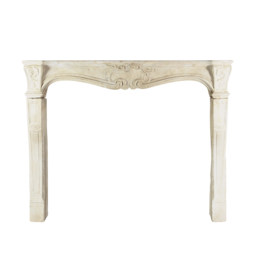 French Classic Antique Limestone Fireplace Surround