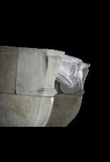 French Classic Vintage Kalkstein Kamin Maske