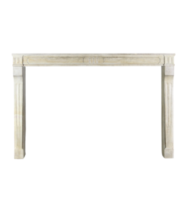 Antique French Country Style Limestone Fireplace Surround