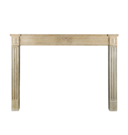 French Country Style Antique Fireplace Surround In Bicolor Limestone
