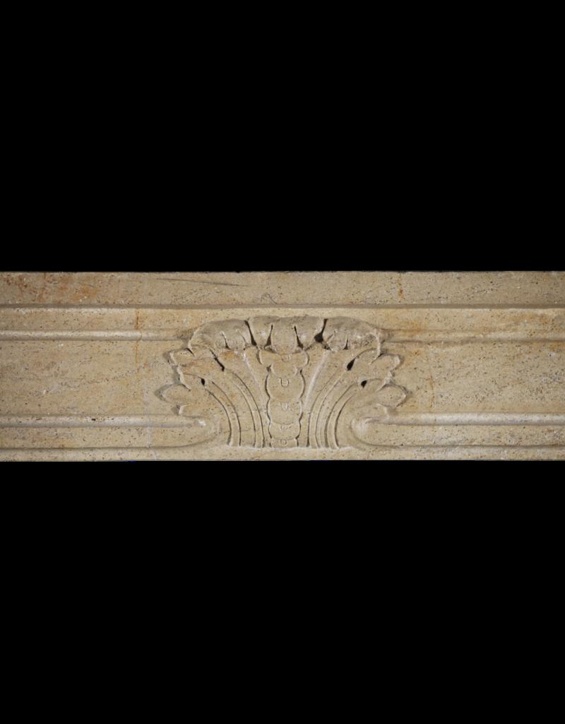 Estilo Rústico Francés Chimenea Vintage En Piedra Caliza Bicolor