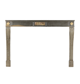 Grand French Country Bicolor Hard Stone Antique Fireplace Surround